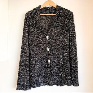BCBGMAXAZRIA Salt & Pepper Chunky Knit Sweater